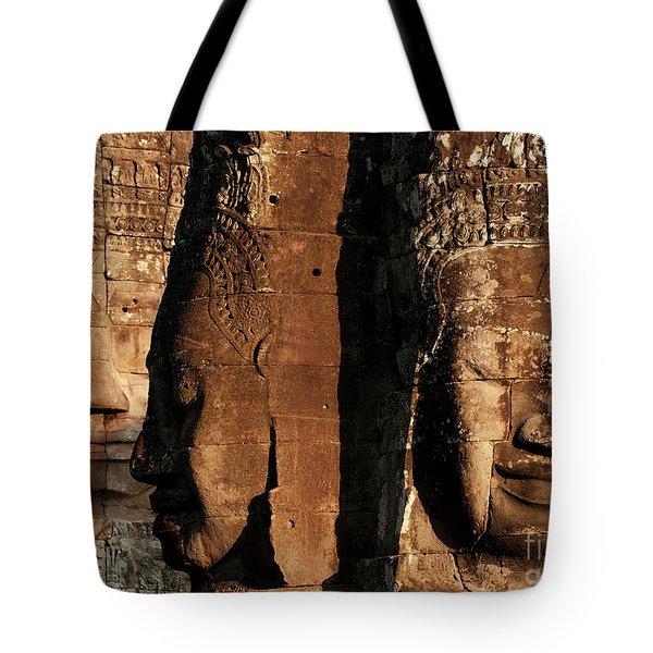 Bayon Faces 01 Tote Bag