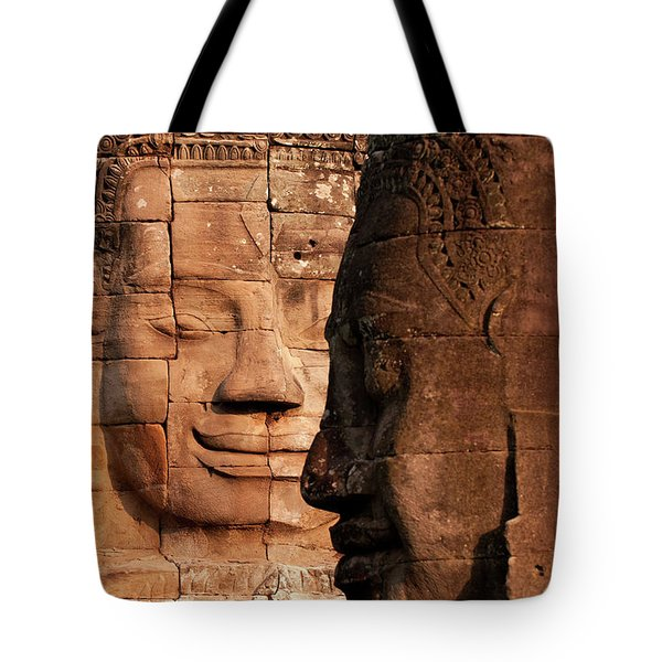 Bayon Faces 02 Tote Bag