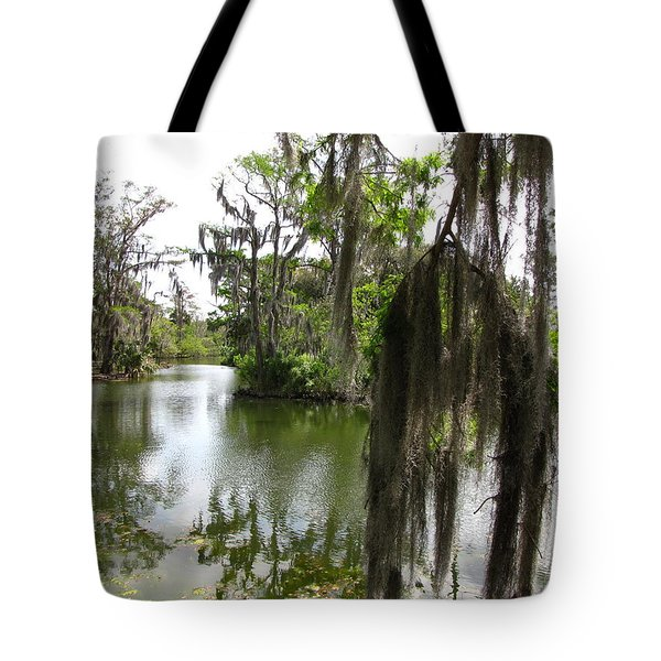 Tote Bag featuring the photograph Bayou by Beth Vincent