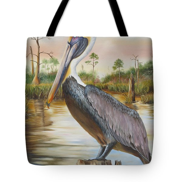 Bayou Coco Point Pelican Tote Bag