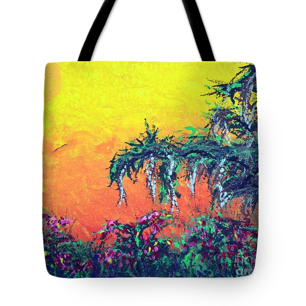 Tote Bag featuring the painting Bayou Honeymoon by Alys Caviness-Gober