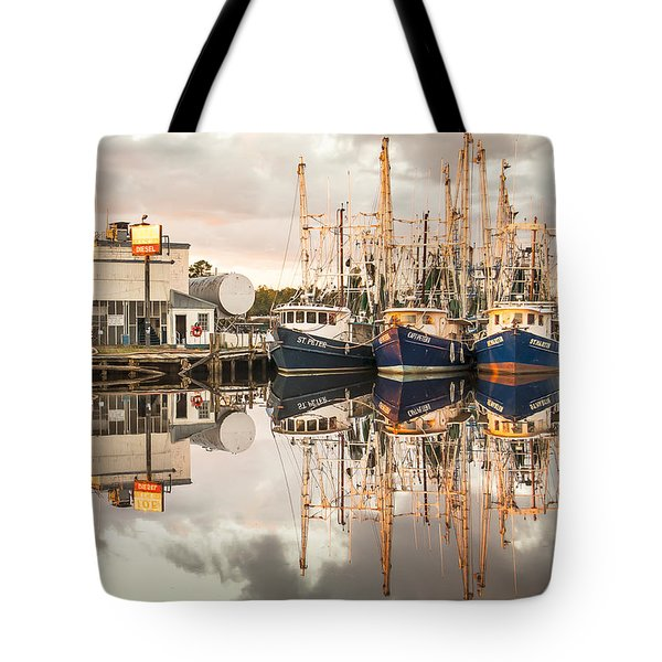 Bayou La Batre' Al Shrimp Boat Reflections 40 Tote Bag