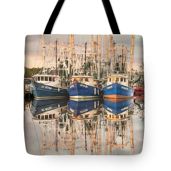 Bayou La Batre' Al Shrimp Boat Reflections 41 Tote Bag
