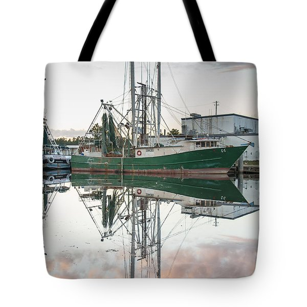Bayou La Batre' Al Shrimp Boat Reflections 42 Tote Bag