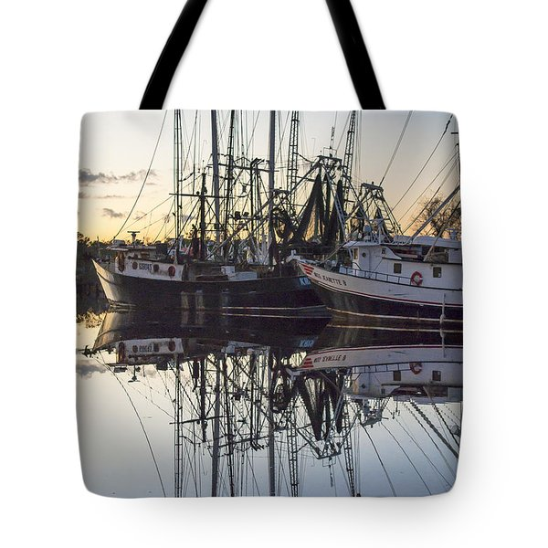Bayou La Batre' Al Shrimp Boat Reflections 43 Tote Bag