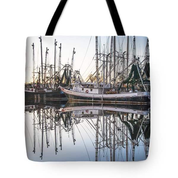 Bayou La Batre' Al Shrimp Boat Reflections 44 Tote Bag