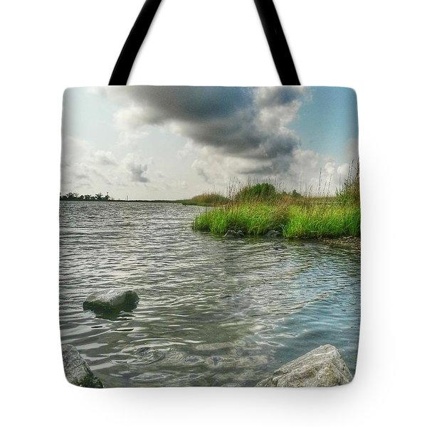 Bayou Sale Fishing Hole Tote Bag