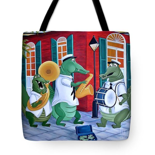 Bayou Street Band Tote Bag