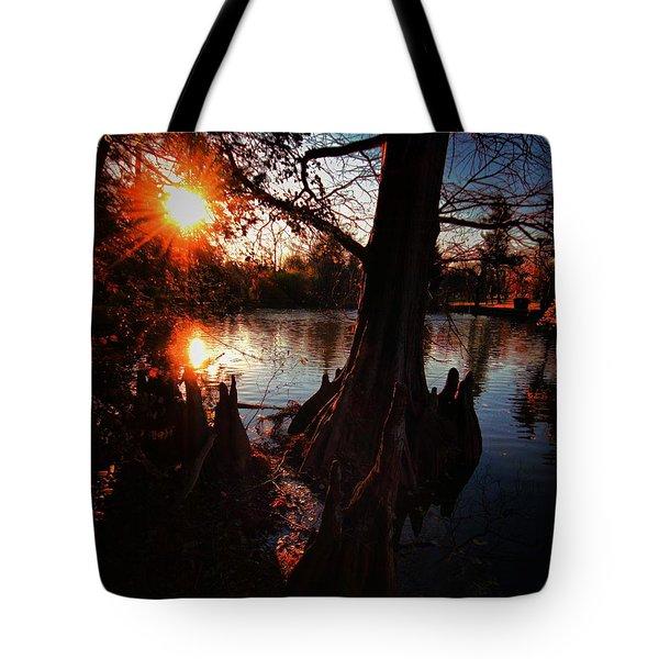 Tote Bag featuring the photograph Bayou Sundown by Robert McCubbin