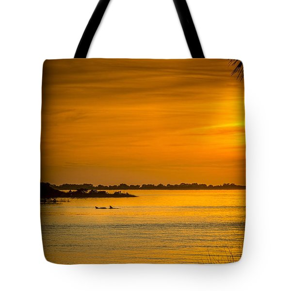Bayport Dolphins Tote Bag by Marvin Spates