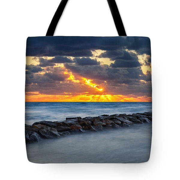 Bayside Sunset Tote Bag by Bill Wakeley