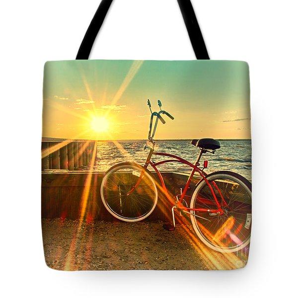 Bayside Sunset Tote Bag