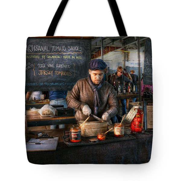Bazaar - We Sell Tomato Sauce  Tote Bag by Mike Savad