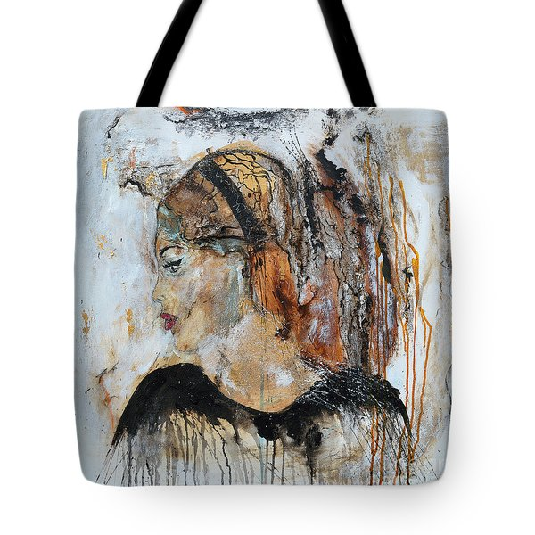 Tote Bag featuring the painting B.b. by Ismeta Gruenwald
