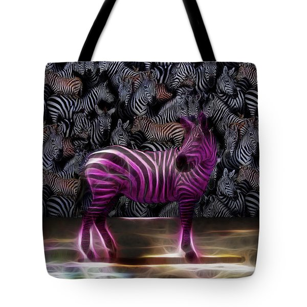 Be Courageous - Be Different - Zebra Tote Bag