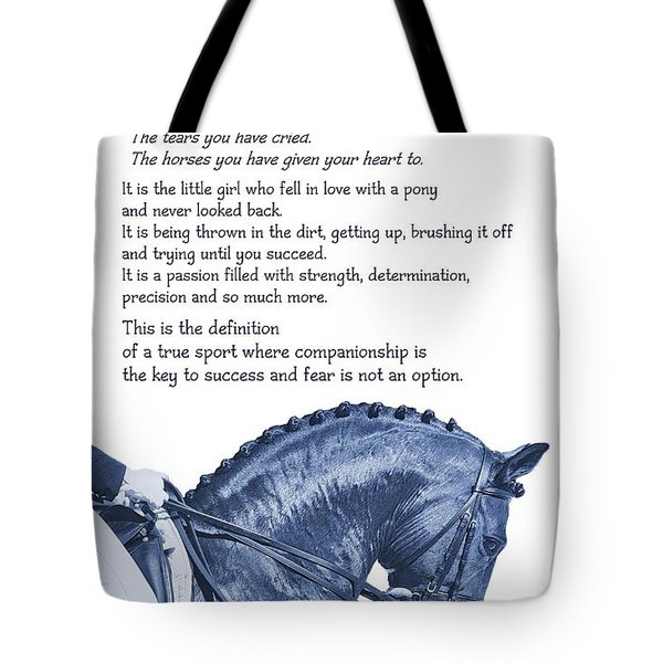 Be Equestrian Quote Tote Bag by JAMART Photography