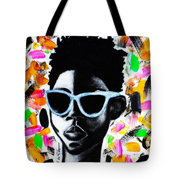 Tote Bag featuring the painting Be Firm  by Tarra Louis-Charles