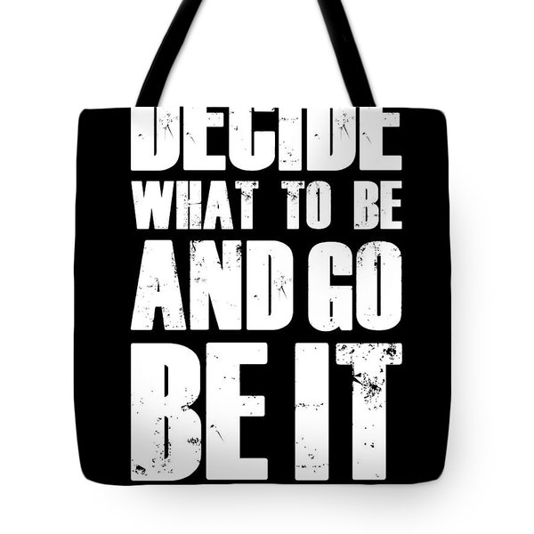 Be It Poster Black Tote Bag