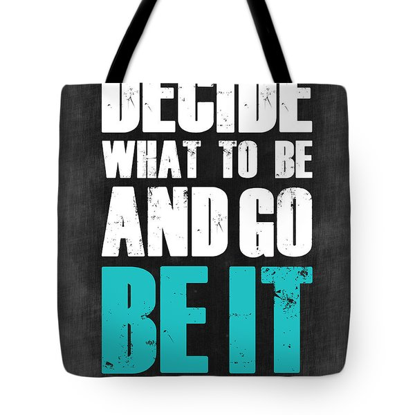 Be It Poster Grey Tote Bag