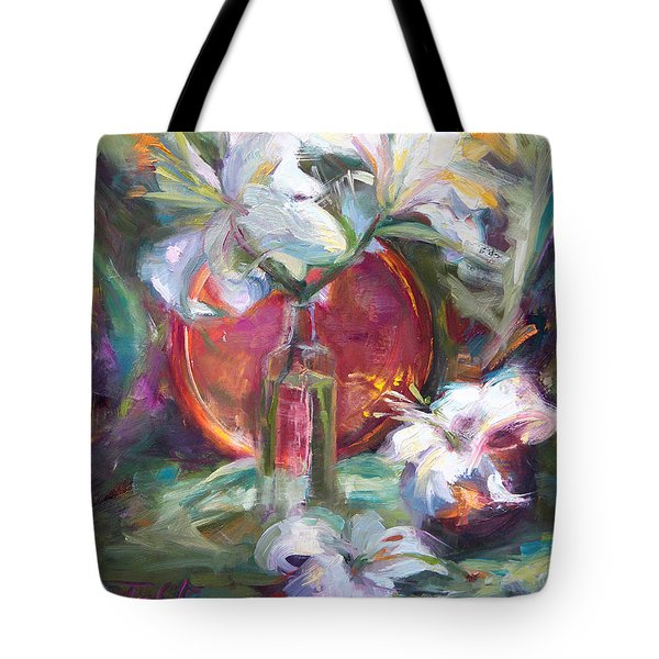 Be Still - Casablanca Lilies With Copper Tote Bag