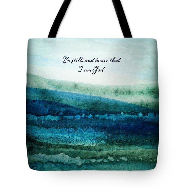 Tote Bag featuring the painting Be Still by Shevon Johnson