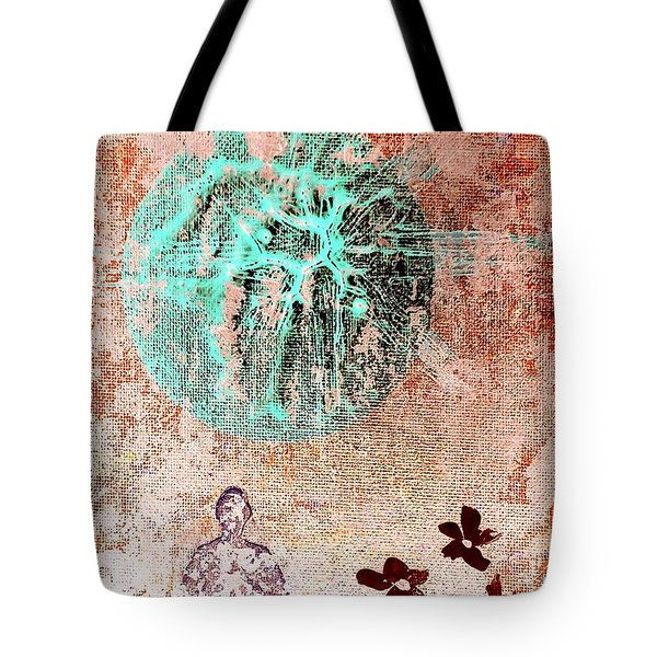 Tote Bag featuring the painting Be The Buddha by Jacqueline McReynolds