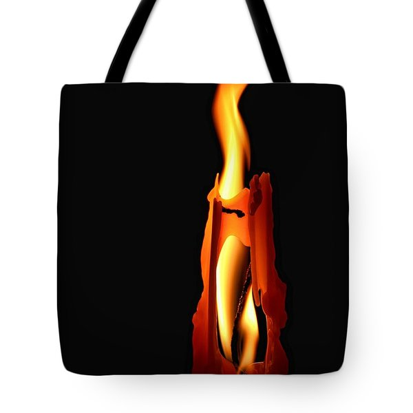 Be The Flame Tote Bag by Peggy Hughes