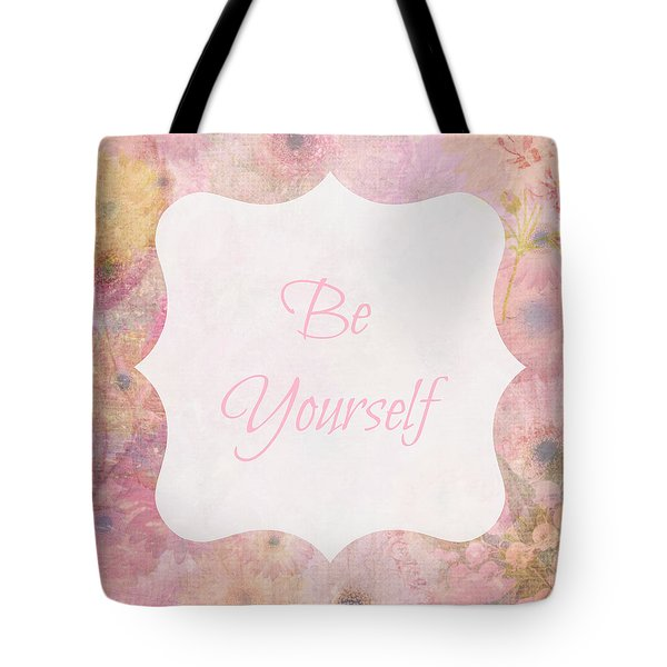 Be Yourself Daisies Tote Bag