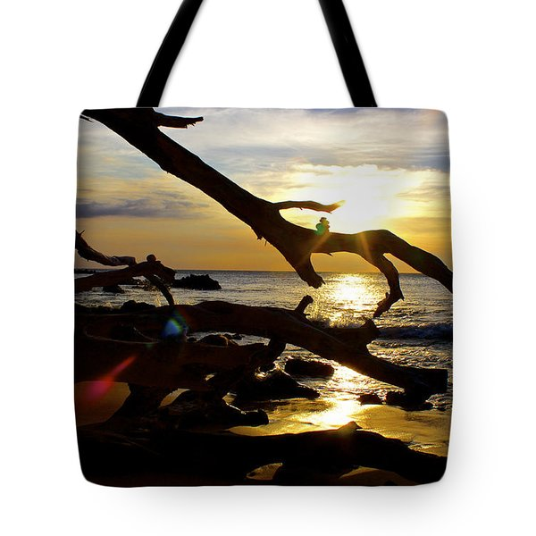 Beach 69 Hawaii At Sunset Tote Bag by Venetia Featherstone-Witty