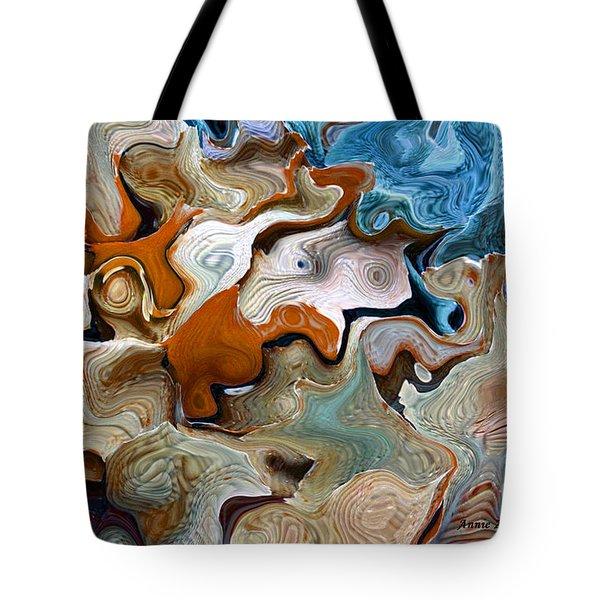 Beach Abstract Art Tote Bag by Annie Zeno