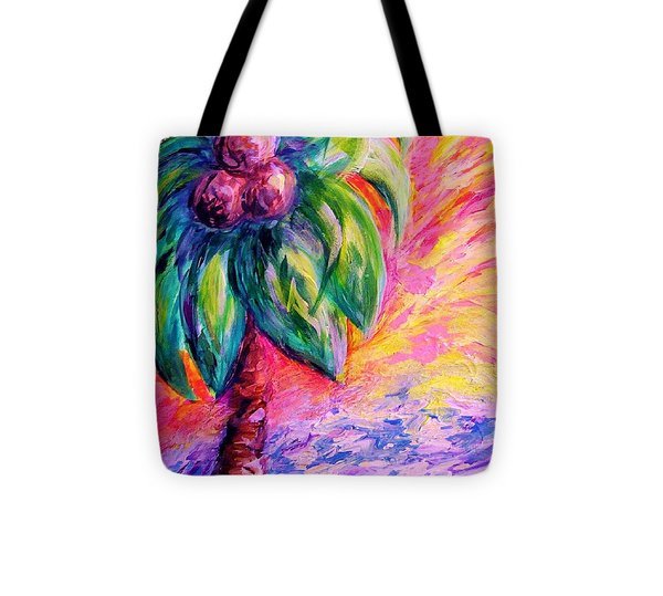 Beach Abstract Tote Bag by Eloise Schneider