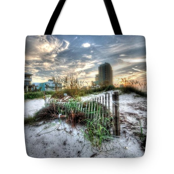 Beach And Buildings Tote Bag