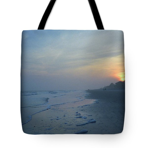 Beach And Sunset Tote Bag