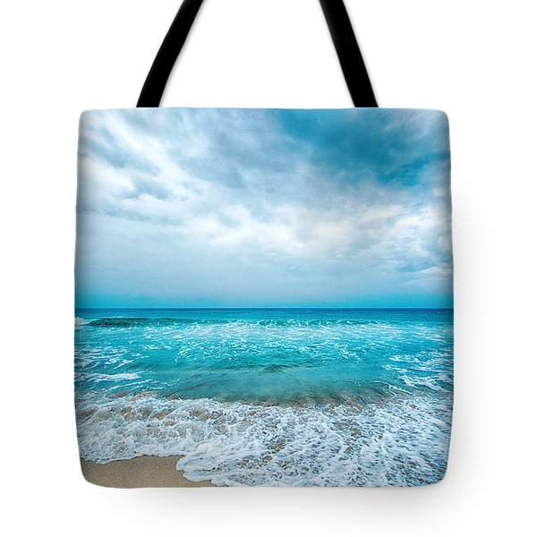 Tote Bag featuring the photograph Beach And Waves by Yew Kwang
