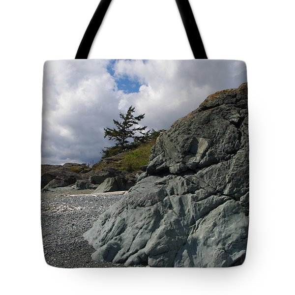 Beach At Fort Rodd Hill Tote Bag
