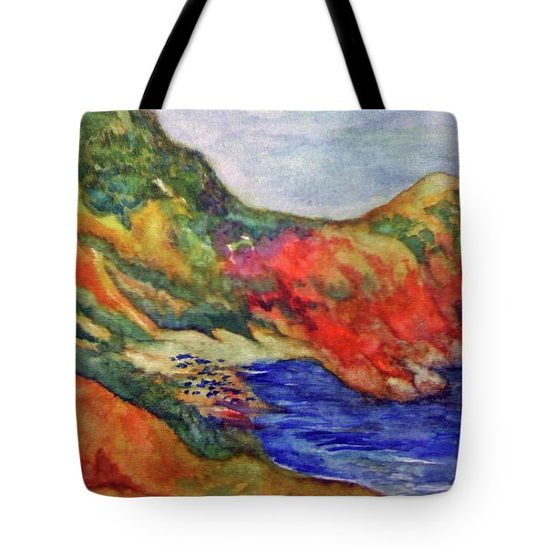 Beach At Moraira Tote Bag