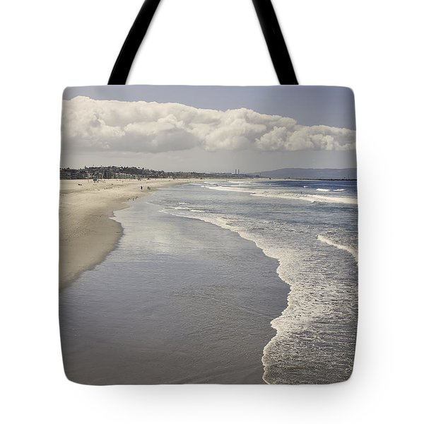 Beach At Santa Monica Tote Bag