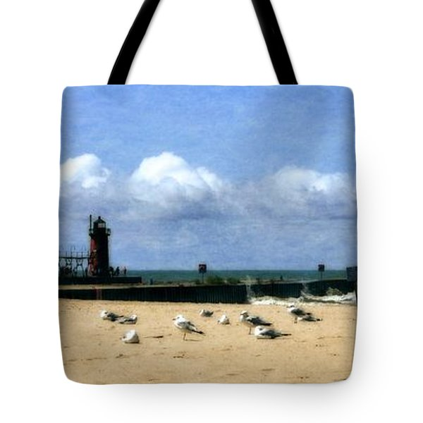 Beach At South Haven  Tote Bag