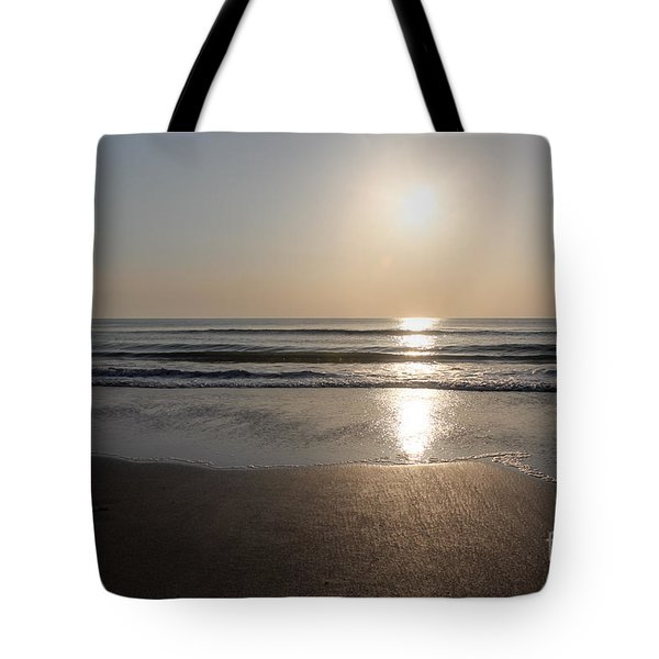 Beach At Sunrise Tote Bag