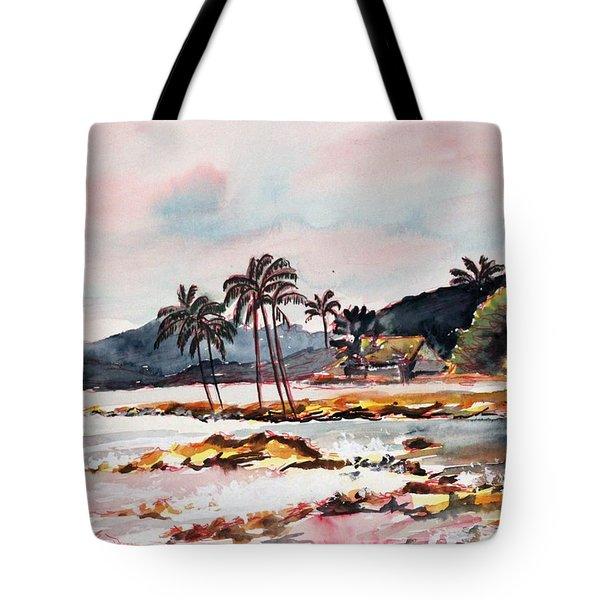 Beach At Waikiki Tote Bag