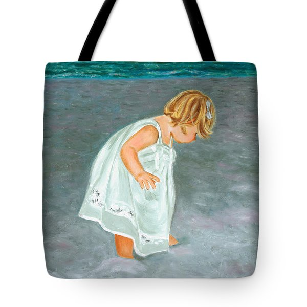 Beach Baby In White Tote Bag