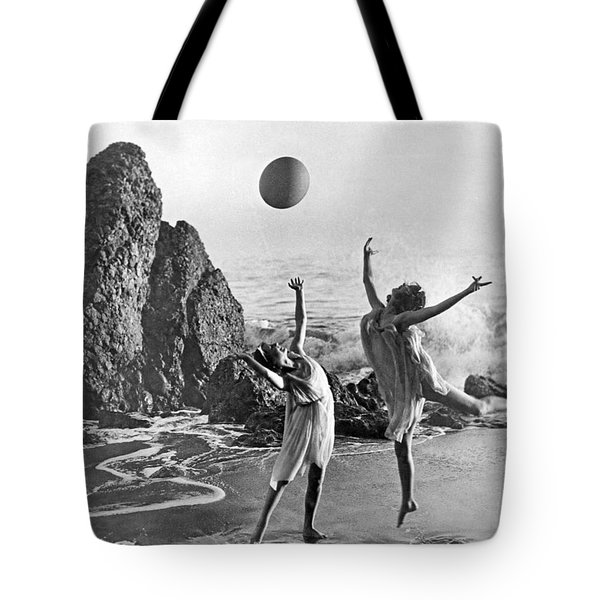 Beach Ball Dancing Tote Bag