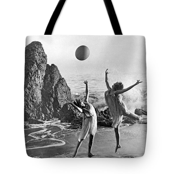 Beach Ball Dancing Tote Bag by Underwood Archives