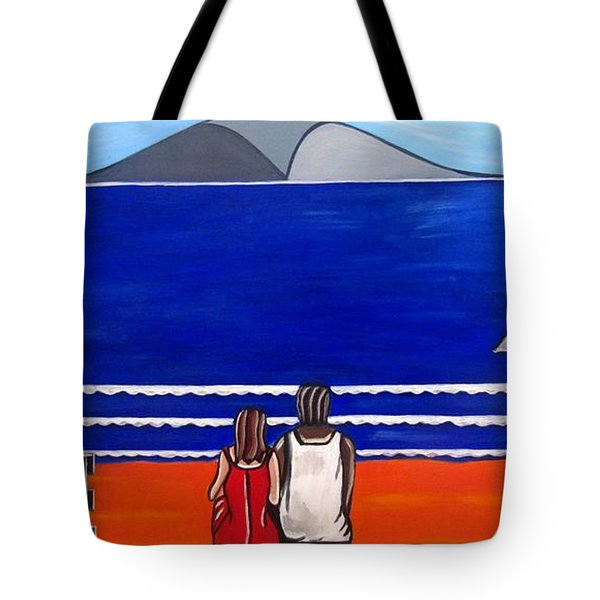 Beach Beach Day Three Tote Bag by Sandra Marie Adams