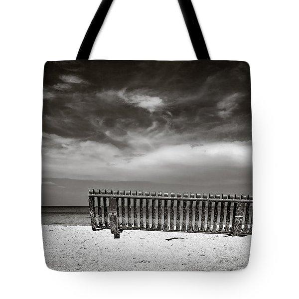 Beach Bench Tote Bag by Dave Bowman