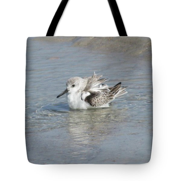 Beach Bird Bath 4 Tote Bag