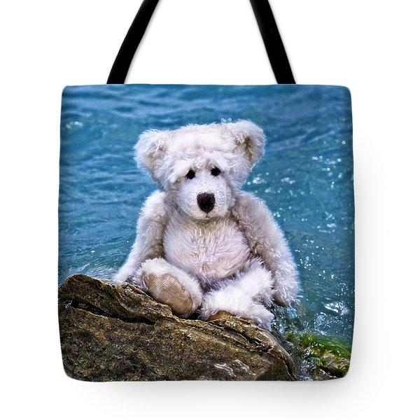 Beach Bum - Teddy Bear Art By William Patrick And Sharon Cummings Tote Bag