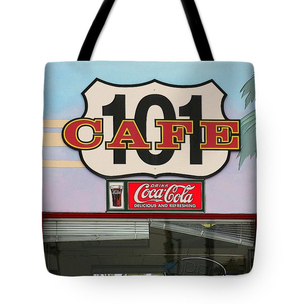 Tote Bag featuring the photograph Beach Cafe by Art Block Collections