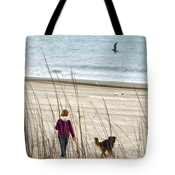 Beach Companions Tote Bag by Sandi OReilly