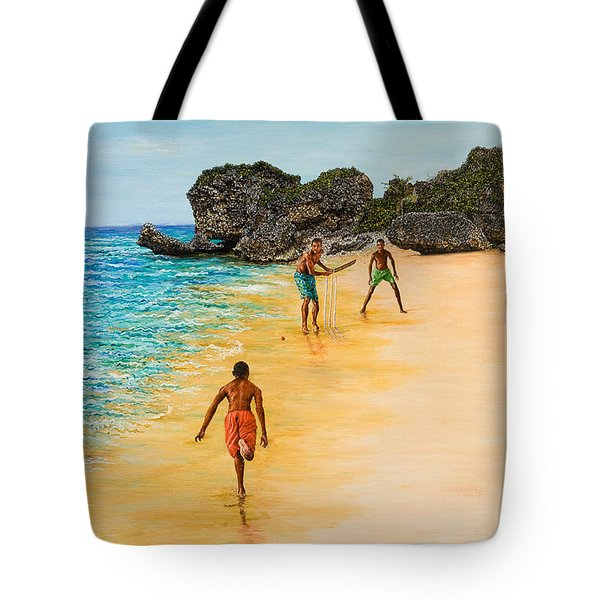 Beach Cricket Tote Bag by Victor Collector